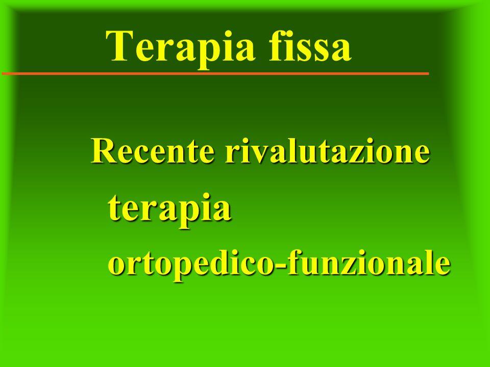 Terapia fissa Recente rivalutazione terapiaortopedico-funzionale