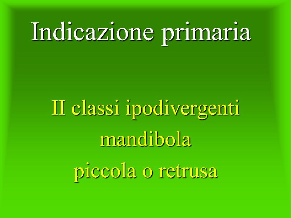 Indicazione primaria II classi ipodivergenti mandibola piccola o retrusa