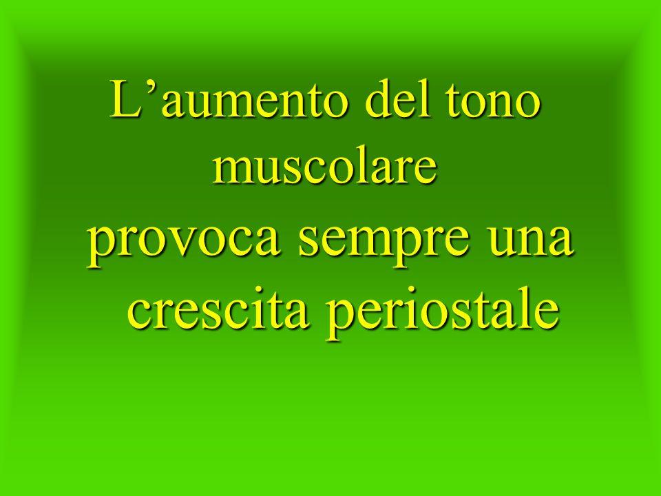 Laumento del tono muscolare provoca sempre una crescita periostale