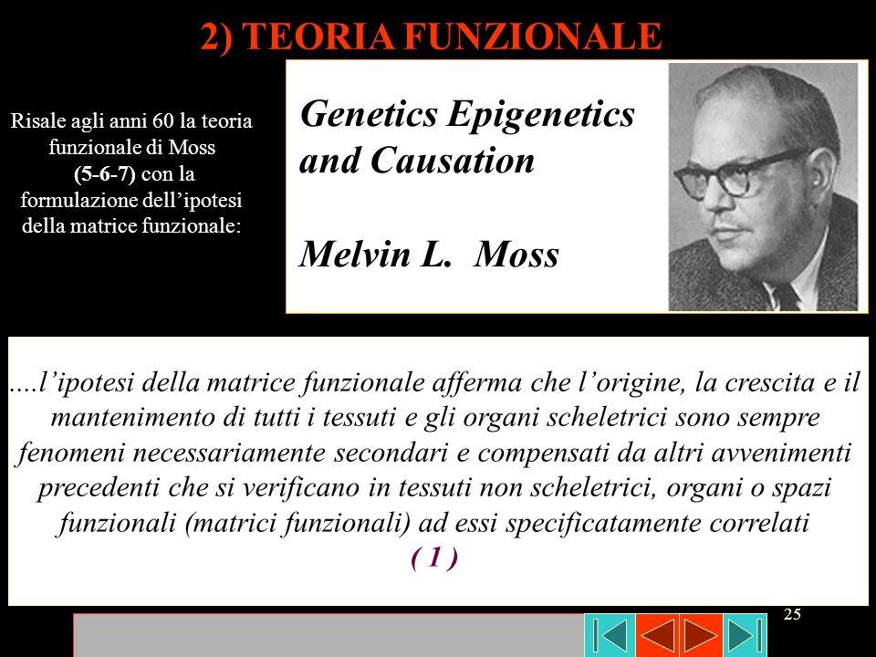 25 2) TEORIA FUNZIONALE Risale agli anni 60 la teoria funzionale di Moss (5-6-7) con la formulazione dellipotesi della matrice funzionale: Genetics Ep