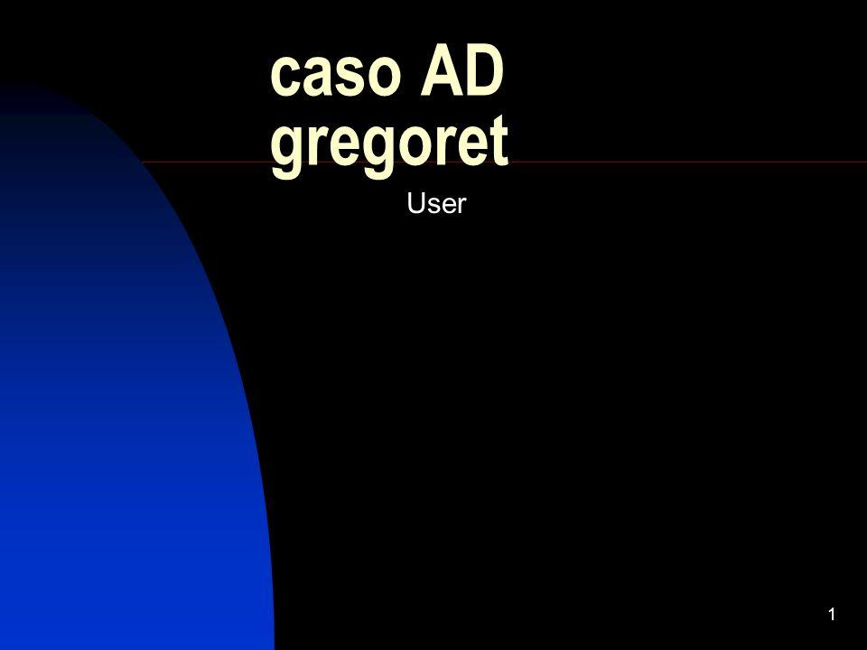 1 caso AD gregoret User