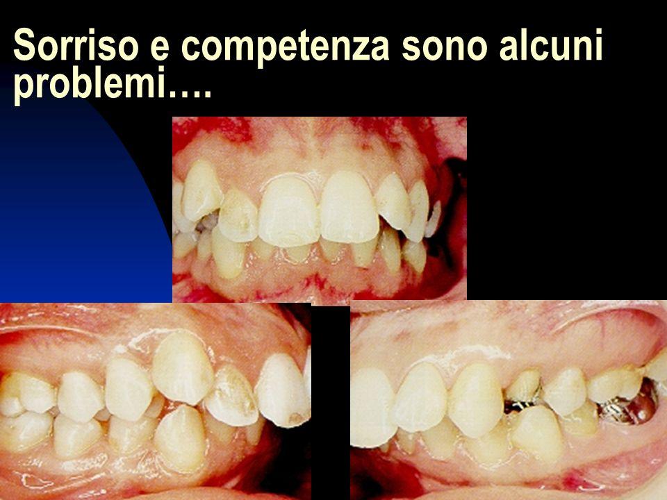 3 Sorriso e competenza sono alcuni problemi….