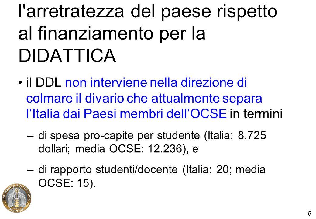 7 altri dati, sulla spesa per studente... http://statistica.miur.it/Data/uic2008/Le_Risorse.p df