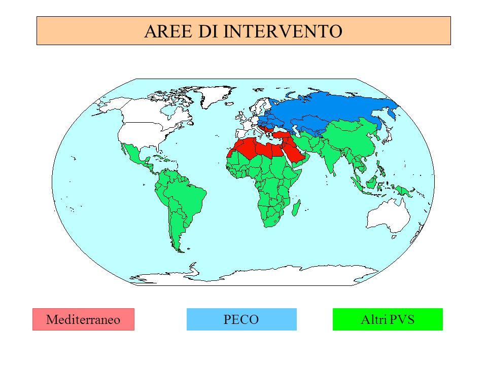 AREE DI INTERVENTO MediterraneoPECOAltri PVS