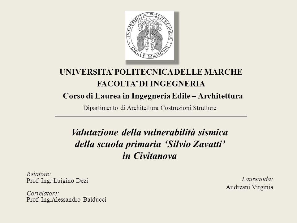Civitanova Marche : viale Vittorio Veneto SCUOLA PRIMARIA SILVIO ZAVATTI ANNO DI COSTRUZIONE US principale: 1930-1934 circa US aggiuntiva anni 60