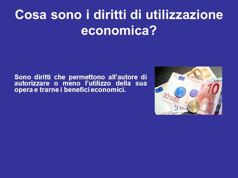 Quali sono i diritti di utilizzazione economica.