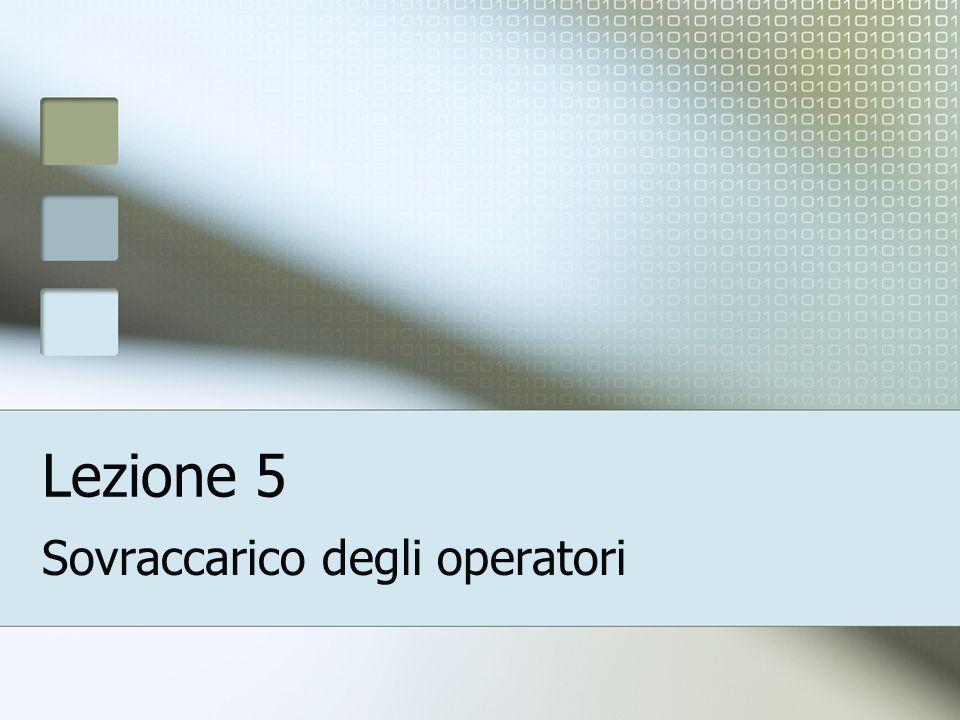 Lezione 5 Sovraccarico degli operatori