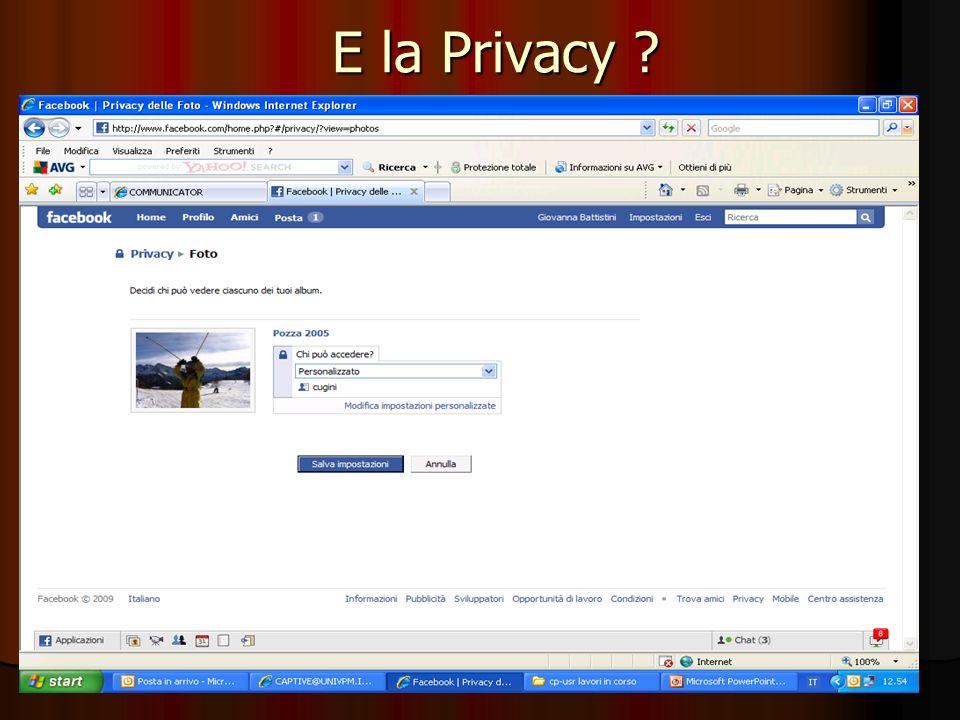 61 E la Privacy ?