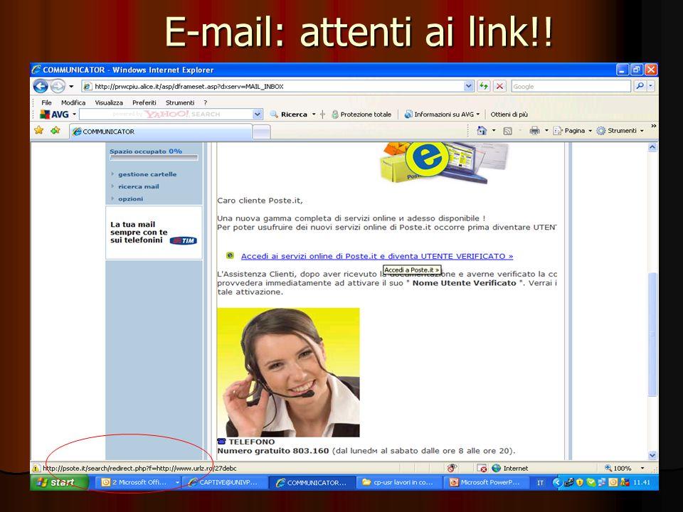 64 E-mail: attenti ai link!!