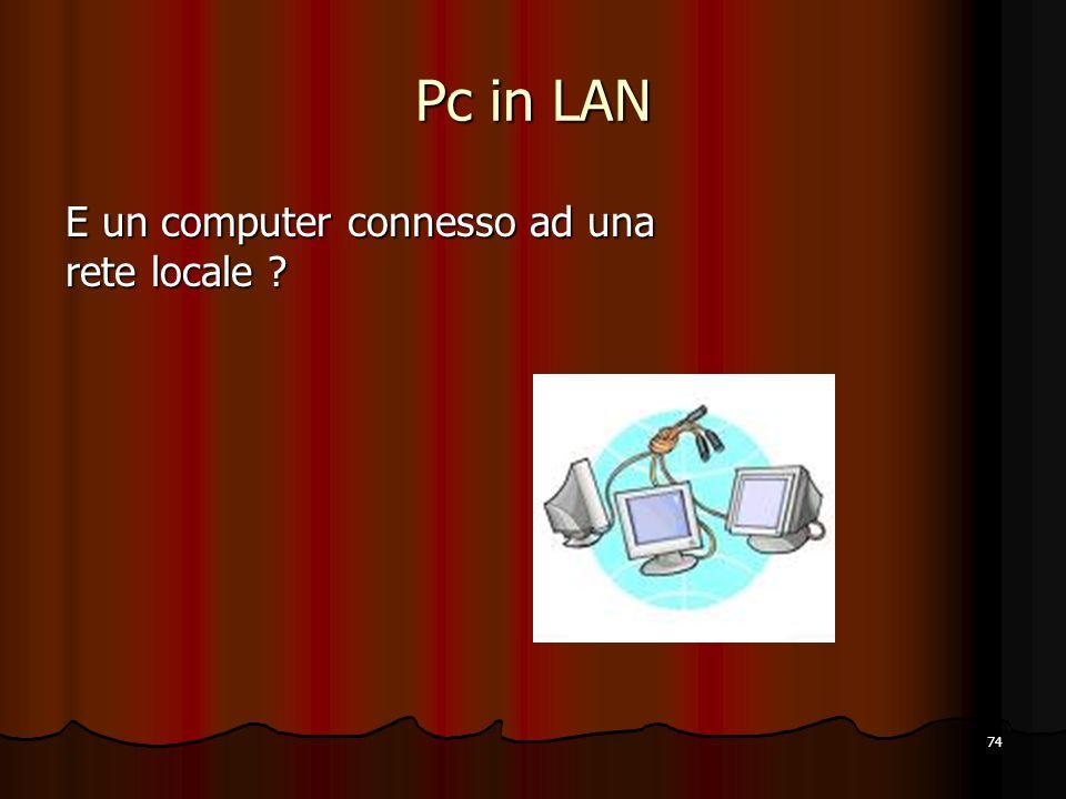 74 Pc in LAN E un computer connesso ad una rete locale ?