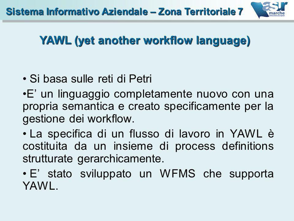 Si basa sulle reti di Petri E un linguaggio completamente nuovo con una propria semantica e creato specificamente per la gestione dei workflow. La spe