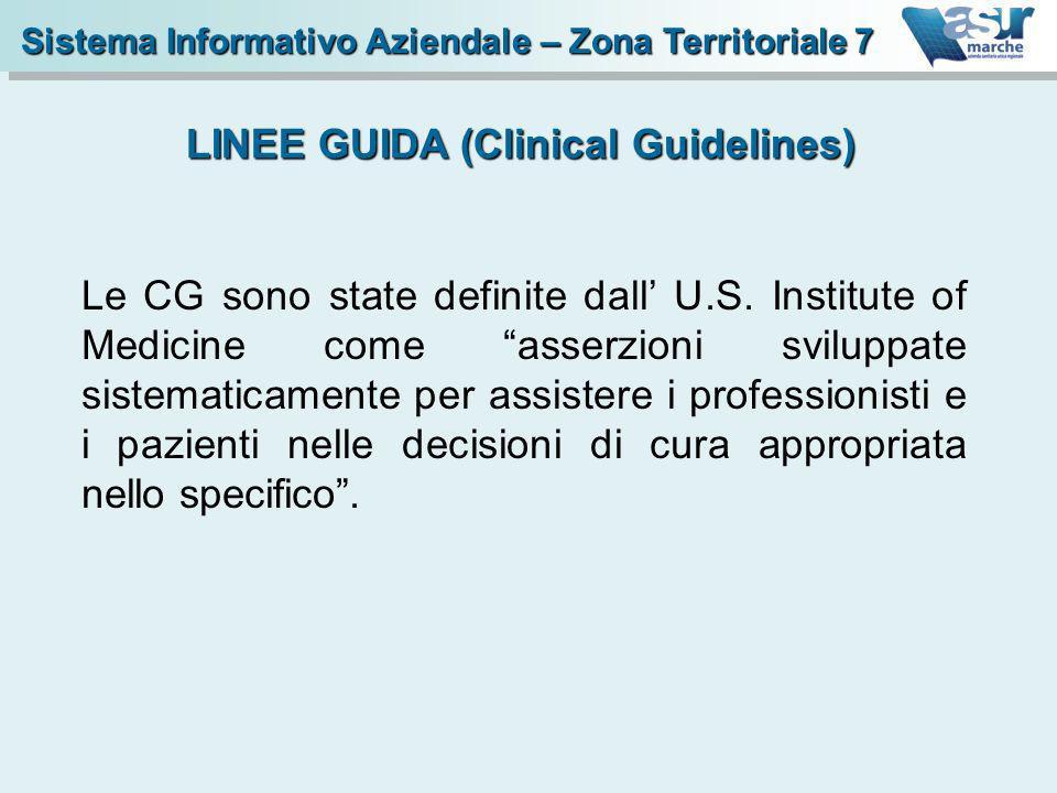 Le CG sono state definite dall U.S. Institute of Medicine come asserzioni sviluppate sistematicamente per assistere i professionisti e i pazienti nell
