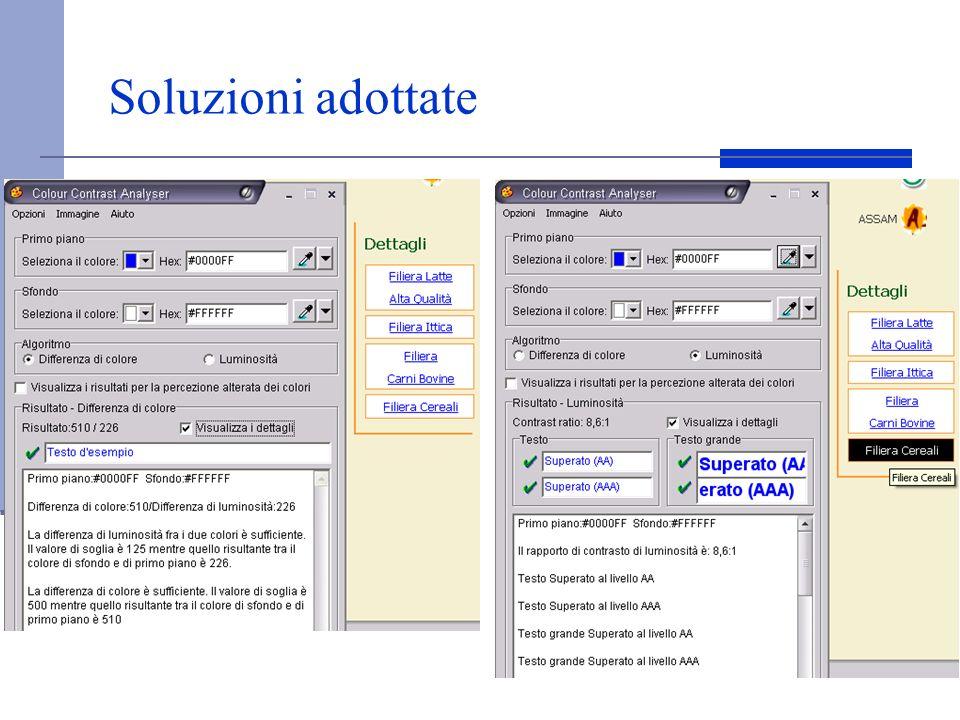 Soluzioni adottate