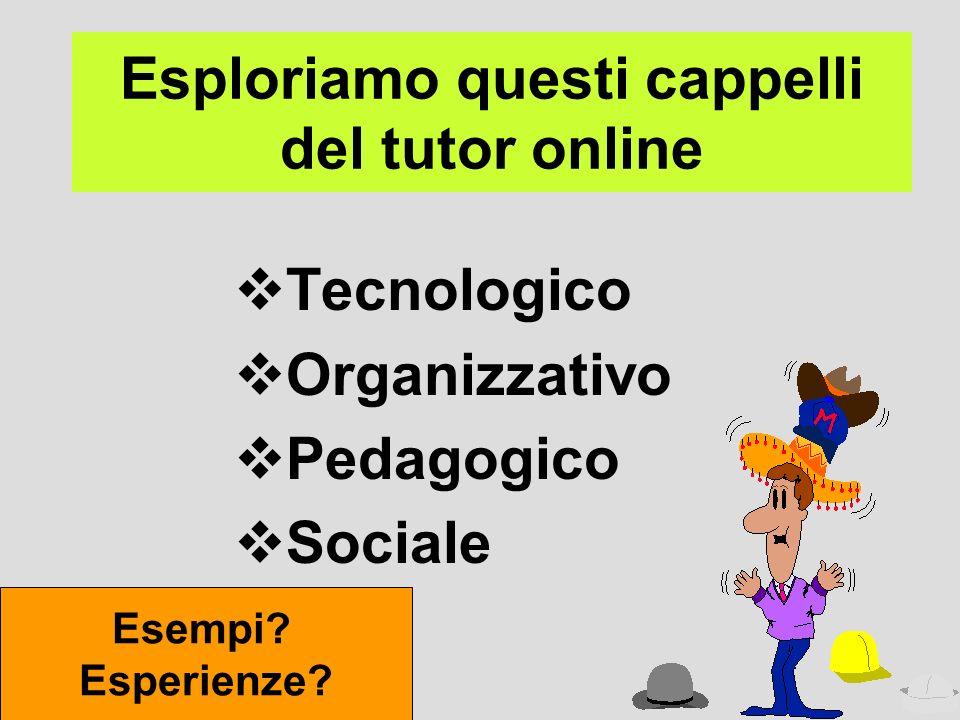 Esploriamo questi cappelli del tutor online Tecnologico Organizzativo Pedagogico Sociale Esempi.