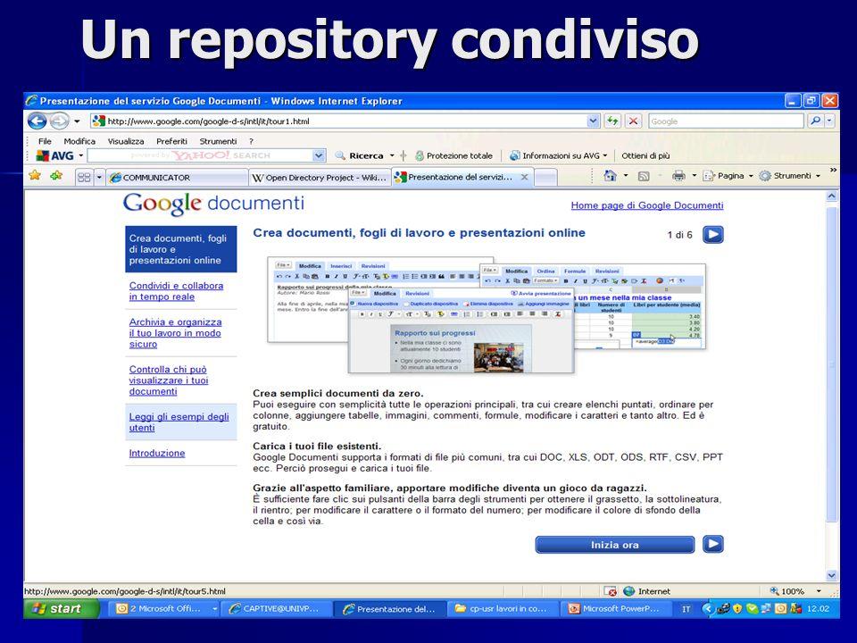 3 Un repository condiviso