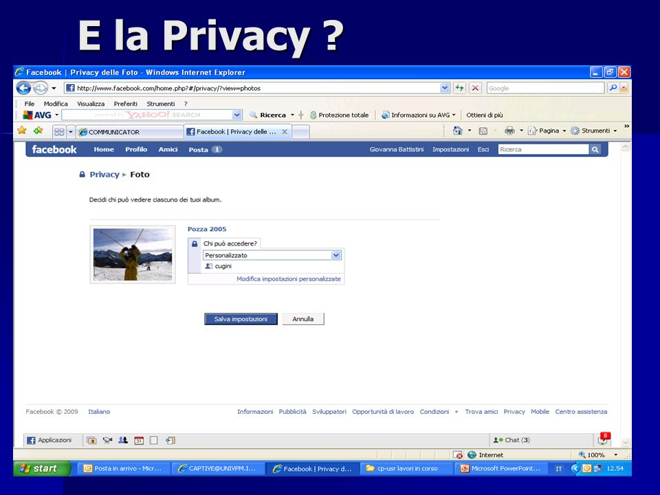 7 Un altro Social Network