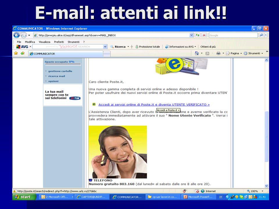 9 E-mail: attenti ai link!!