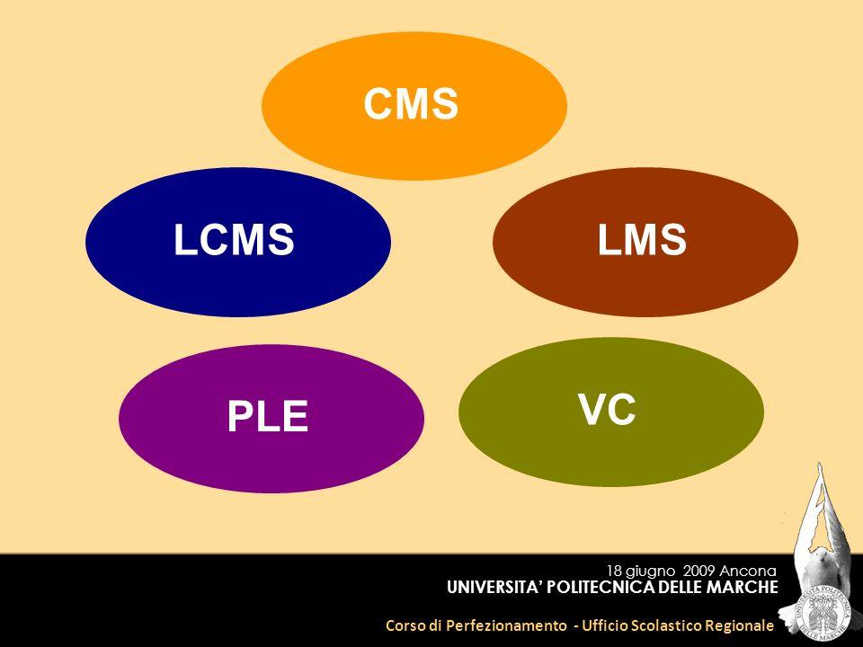 Corso di Perfezionamento - Ufficio Scolastico Regionale UNIVERSITA POLITECNICA DELLE MARCHE CMSLCMSVCLMSPLE