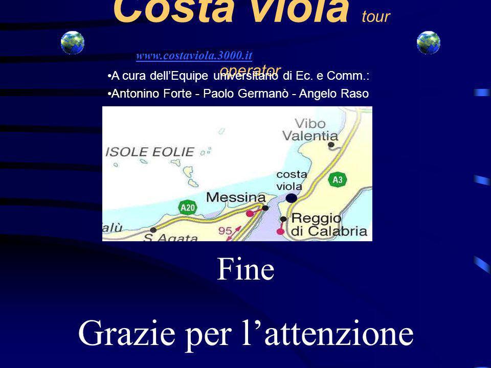 Costa viola tour operator A cura dellEquipe universitario di Ec.