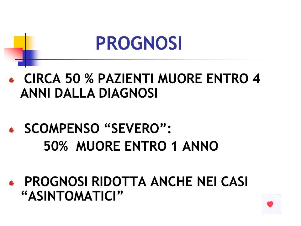 SCOMPENSO CARDIACO: stabilità: MALATTIA CRONICA PROGRESSIVA ESISTE UNA STABILITA .