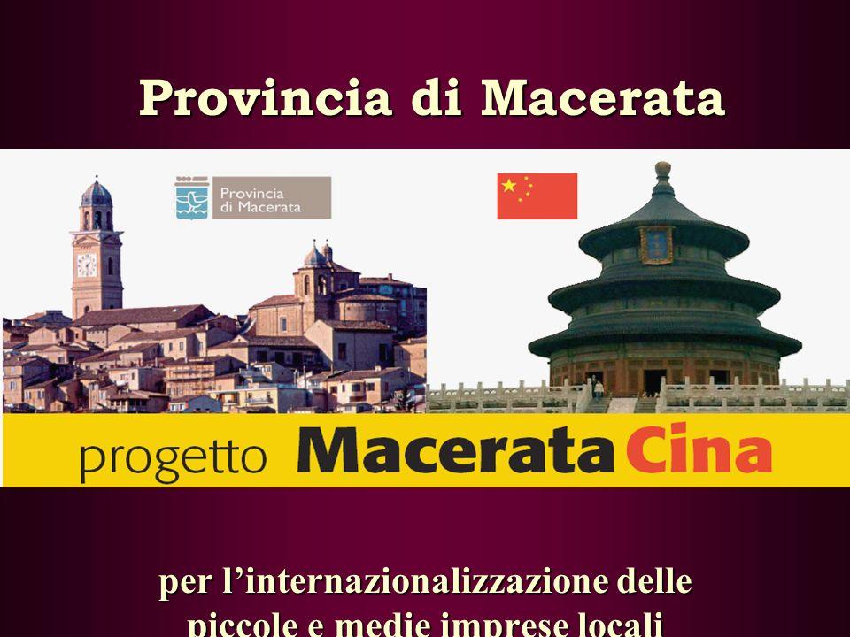 Provincia di Macerata per linternazionalizzazione delle piccole e medie imprese locali