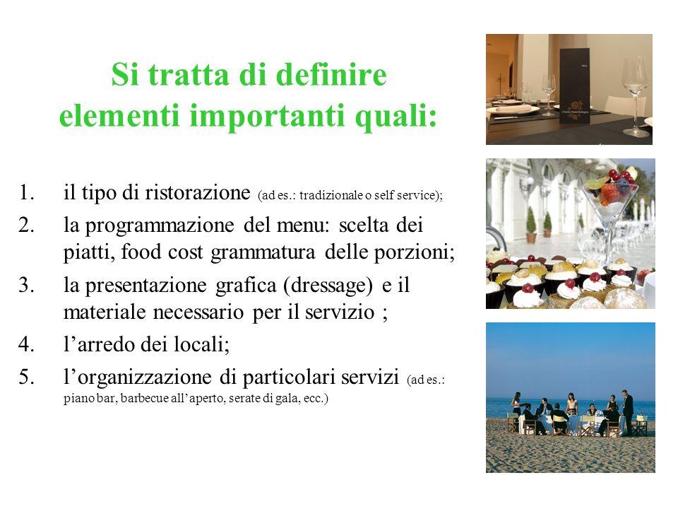 Lobiettivo del direttore alla ristorazione è quello di individuare, nellambito delle caratteristiche generali del mercato, in competizione con le prop