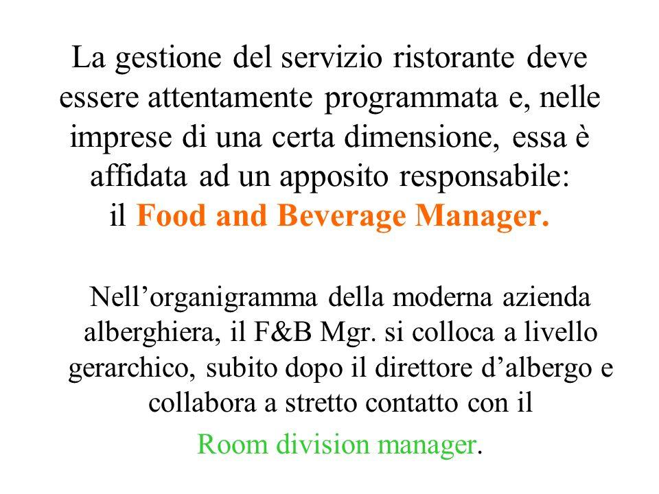 È noto che negli alberghi di medie dimensioni (nucleo centrale della ricettività del nostro Paese) il problema gestionale più complesso è rappresentat