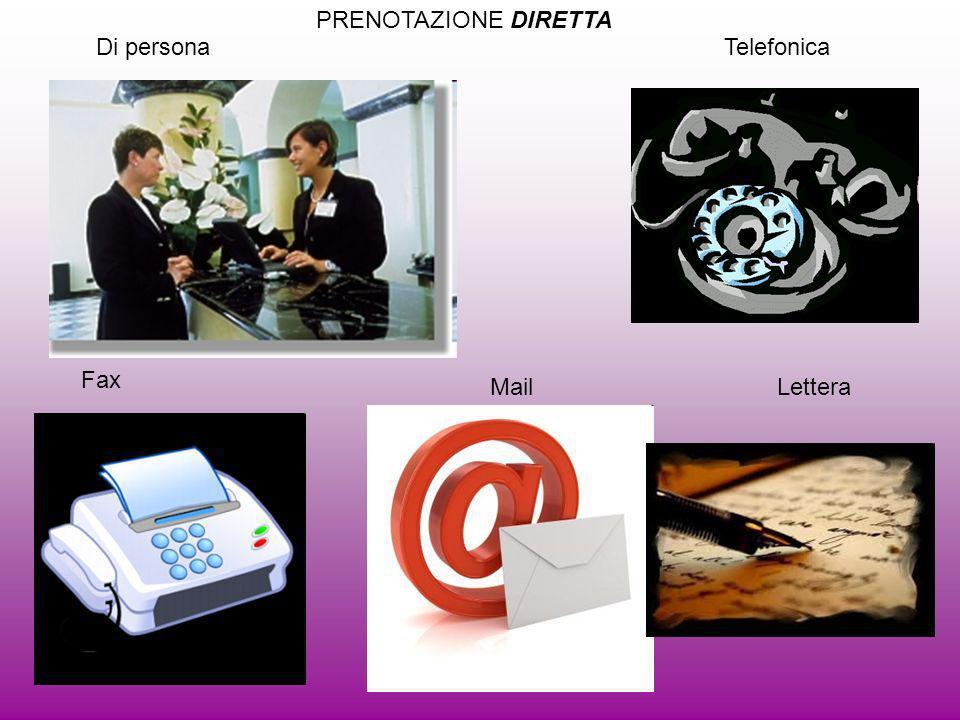 Di personaTelefonica Fax MailLettera PRENOTAZIONE DIRETTA