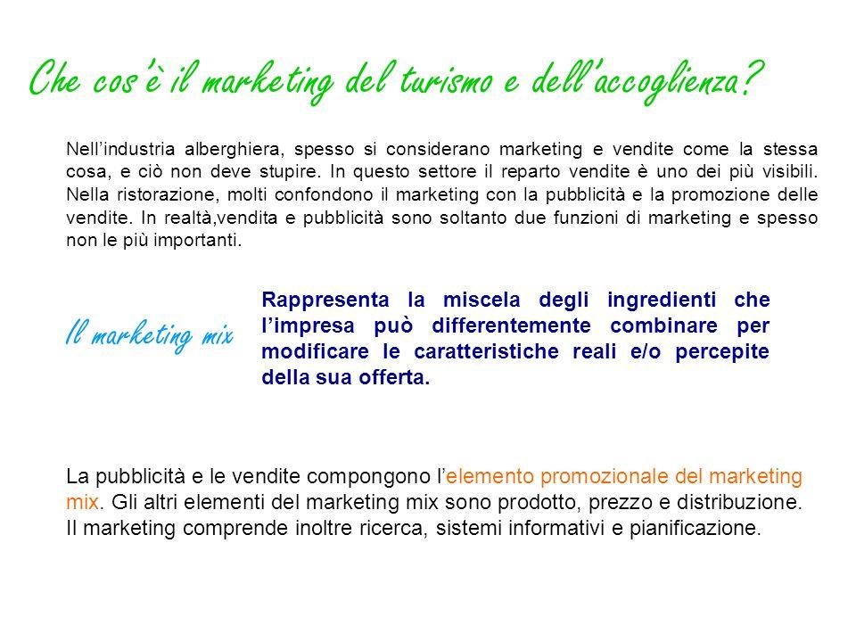 Che cosè il marketing del turismo e dellaccoglienza? Nellindustria alberghiera, spesso si considerano marketing e vendite come la stessa cosa, e ciò n