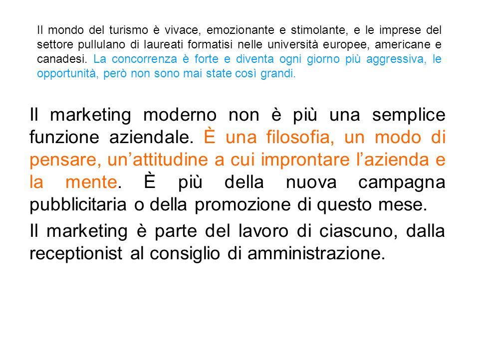 Che cosè il marketing del turismo e dellaccoglienza.