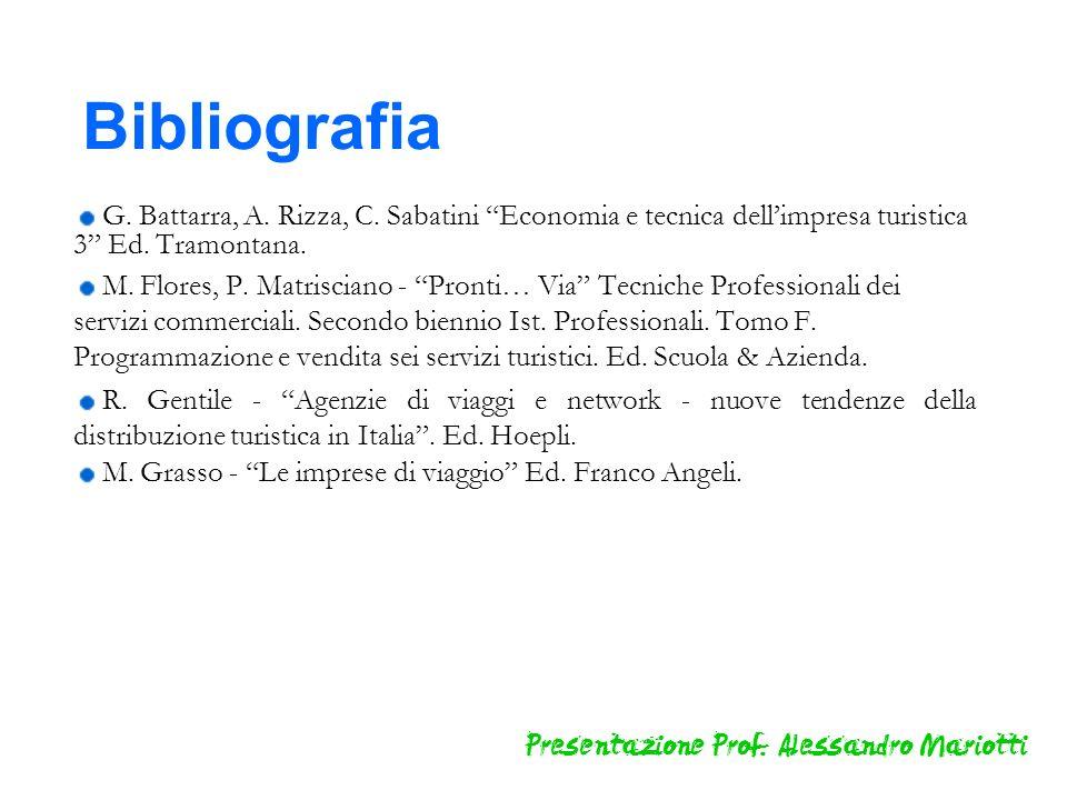 G. Battarra, A. Rizza, C. Sabatini Economia e tecnica dellimpresa turistica 3 Ed. Tramontana. M. Flores, P. Matrisciano - Pronti… Via Tecniche Profess