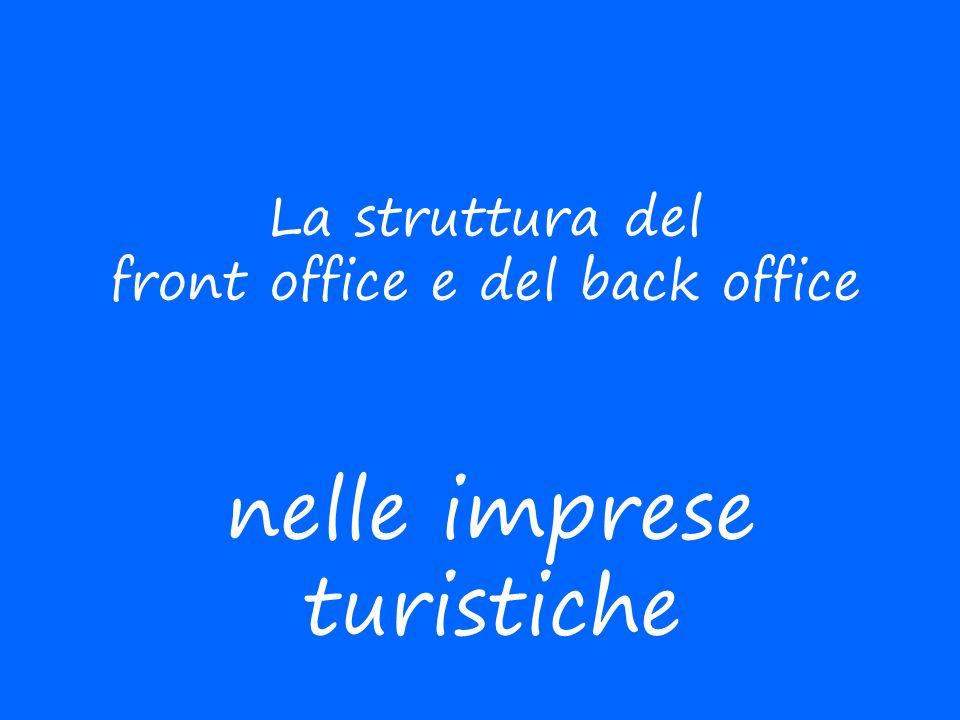 La struttura del front office e del back office nelle imprese turistiche
