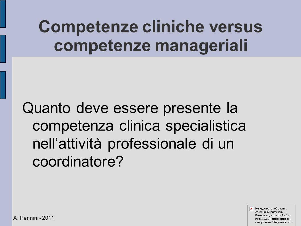 Competenze cliniche versus competenze manageriali Quanto deve essere presente la competenza clinica specialistica nellattività professionale di un coo