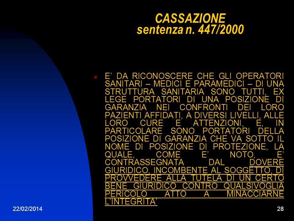 22/02/201428 CASSAZIONE sentenza n.