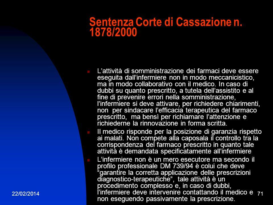 22/02/201471 Sentenza Corte di Cassazione n.