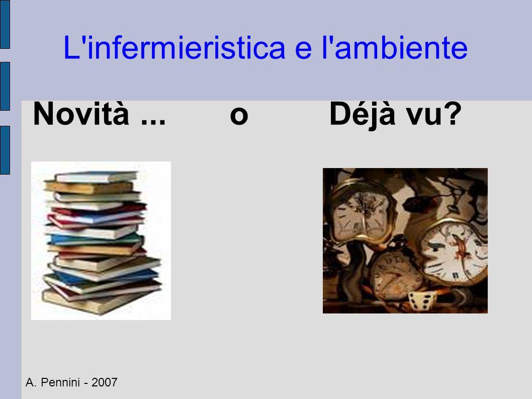 L'infermieristica e l'ambiente Novità... oDéjà vu? A. Pennini - 2007