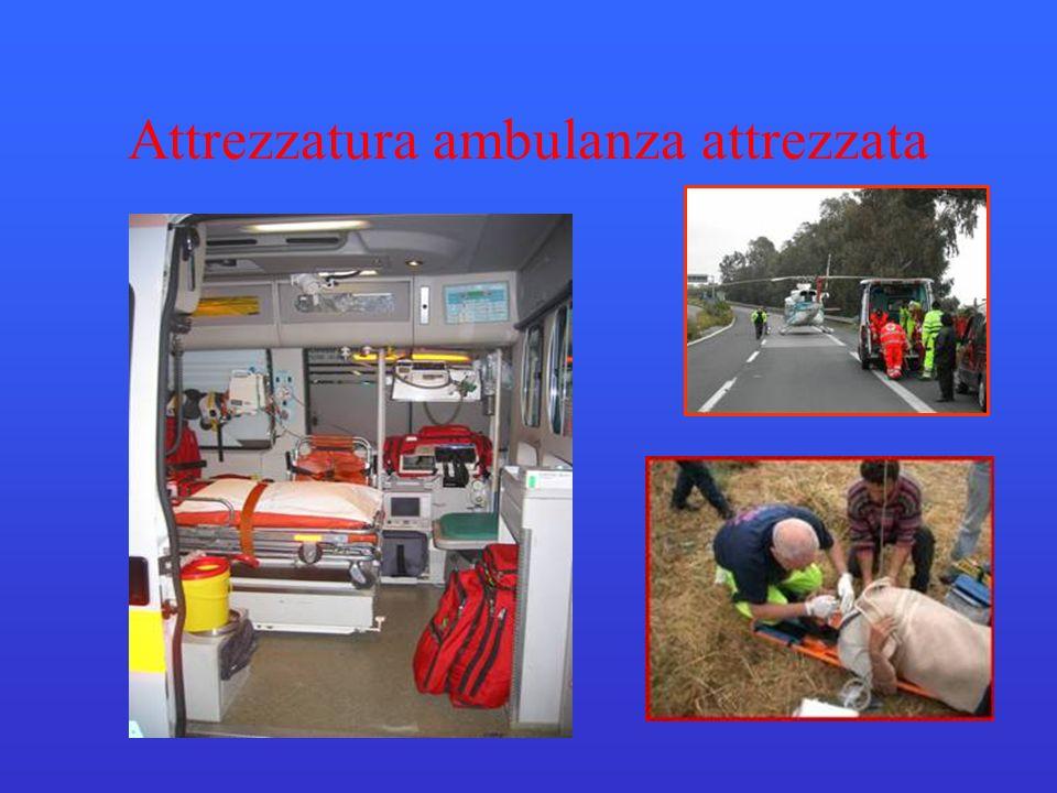 Attrezzatura ambulanza attrezzata