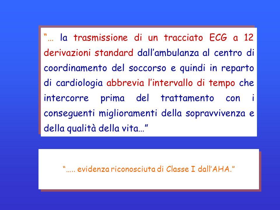 … la trasmissione di un tracciato ECG a 12 derivazioni standard dallambulanza al centro di coordinamento del soccorso e quindi in reparto di cardiolog
