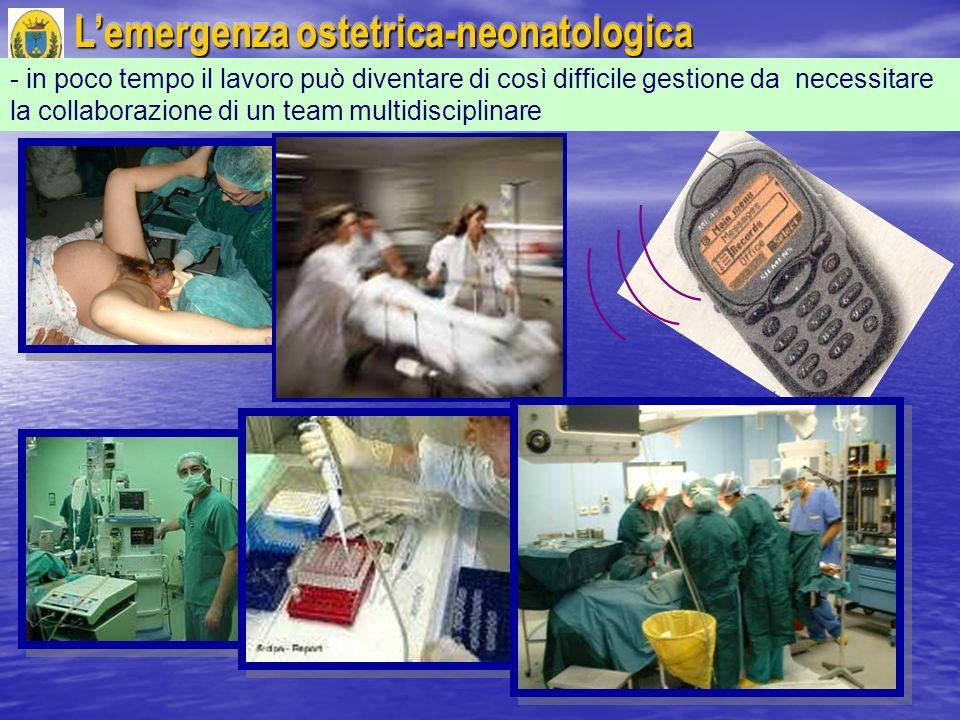 Lemergenza ostetrica-neonatologica - in poco tempo il lavoro può diventare di così difficile gestione da necessitare la collaborazione di un team mult