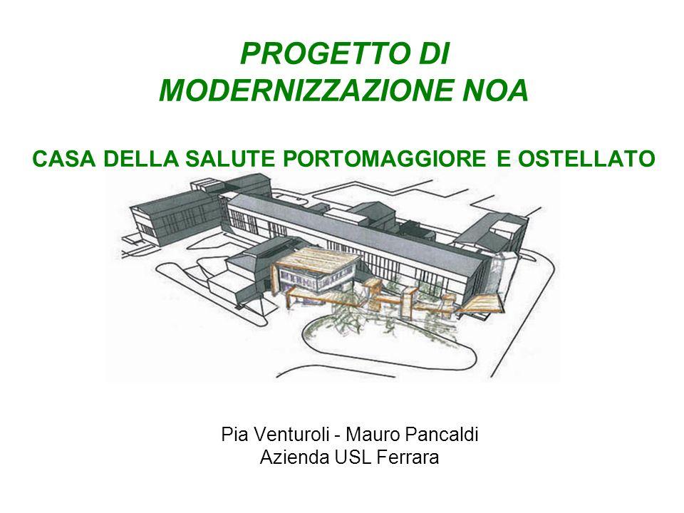 PROGETTO DI MODERNIZZAZIONE NOA CASA DELLA SALUTE PORTOMAGGIORE E OSTELLATO Pia Venturoli - Mauro Pancaldi Azienda USL Ferrara