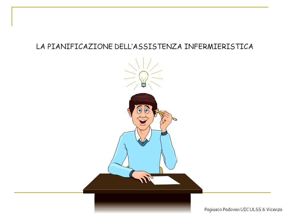 LA PIANIFICAZIONE DELLASSISTENZA INFERMIERISTICA Pagiusco Padovan UIC ULSS 6 Vicenza