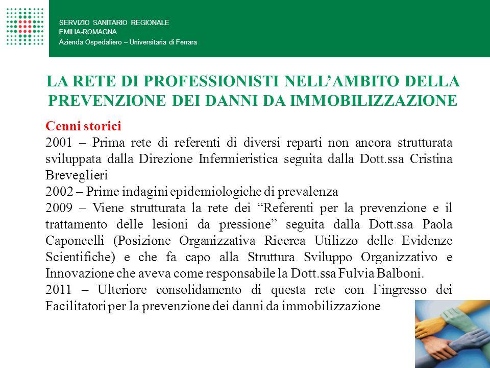 SERVIZIO SANITARIO REGIONALE EMILIA-ROMAGNA Azienda Ospedaliero – Universitaria di Ferrara LA RETE DI PROFESSIONISTI NELLAMBITO DELLA PREVENZIONE DEI