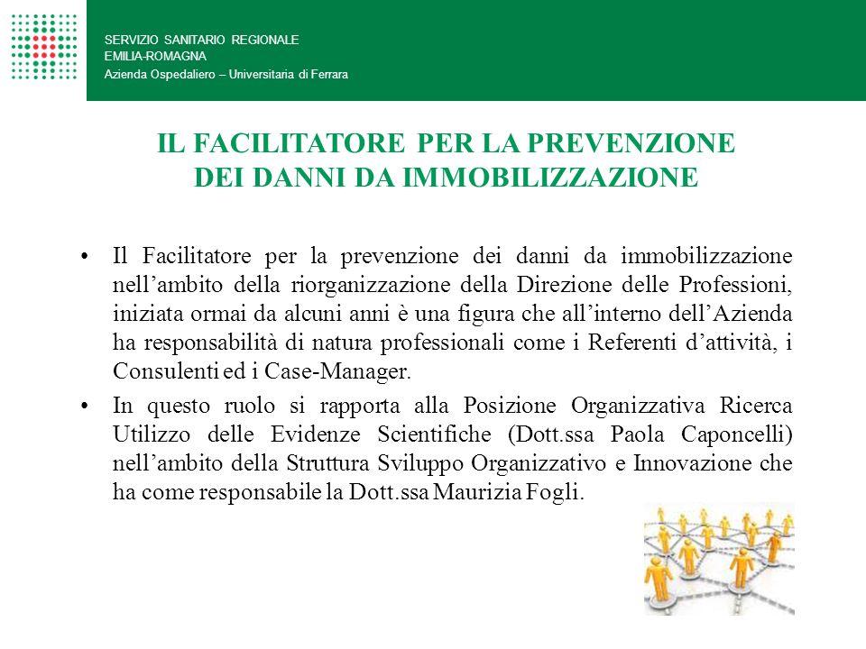 SERVIZIO SANITARIO REGIONALE EMILIA-ROMAGNA Azienda Ospedaliero – Universitaria di Ferrara IL FACILITATORE PER LA PREVENZIONE DEI DANNI DA IMMOBILIZZA