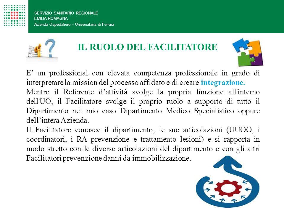 SERVIZIO SANITARIO REGIONALE EMILIA-ROMAGNA Azienda Ospedaliero – Universitaria di Ferrara E un professional con elevata competenza professionale in g