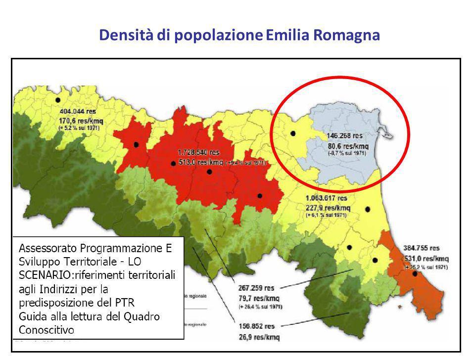 Densità di popolazione Emilia Romagna
