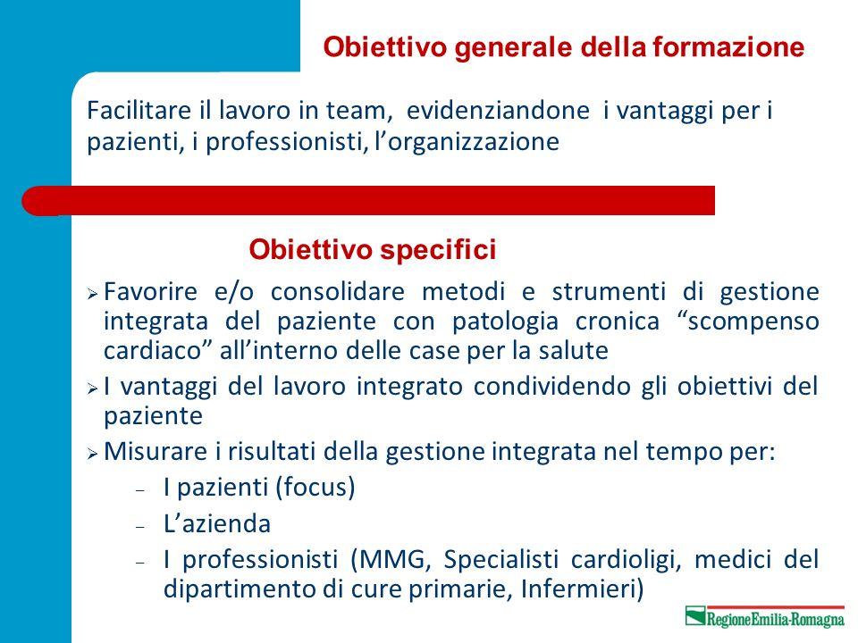 Facilitare il lavoro in team, evidenziandone i vantaggi per i pazienti, i professionisti, lorganizzazione Favorire e/o consolidare metodi e strumenti