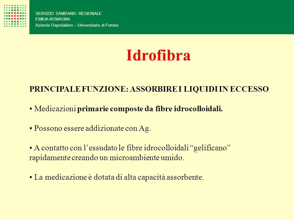 SERVIZIO SANITARIO REGIONALE EMILIA-ROMAGNA Azienda Ospedaliero – Universitaria di Ferrara PRINCIPALE FUNZIONE: ASSORBIRE I LIQUIDI IN ECCESSO Medicaz