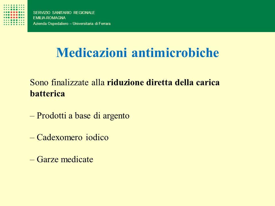 SERVIZIO SANITARIO REGIONALE EMILIA-ROMAGNA Azienda Ospedaliero – Universitaria di Ferrara Medicazioni antimicrobiche Sono finalizzate alla riduzione