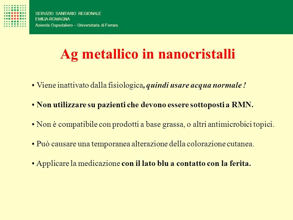 SERVIZIO SANITARIO REGIONALE EMILIA-ROMAGNA Azienda Ospedaliero – Universitaria di Ferrara Viene inattivato dalla fisiologica, quindi usare acqua norm