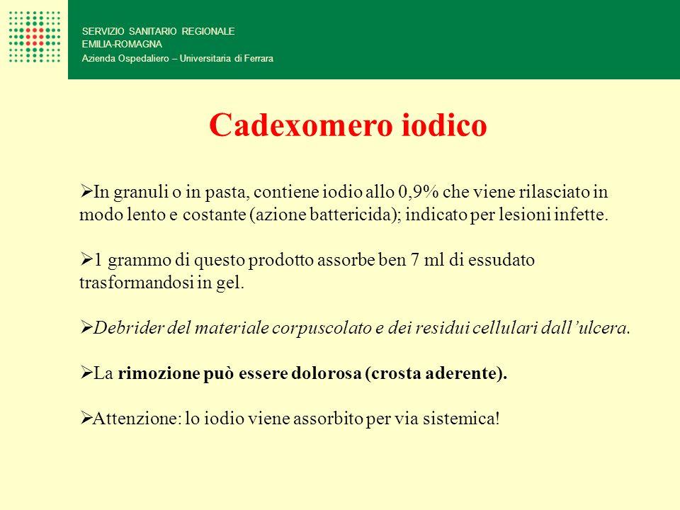 SERVIZIO SANITARIO REGIONALE EMILIA-ROMAGNA Azienda Ospedaliero – Universitaria di Ferrara Cadexomero iodico In granuli o in pasta, contiene iodio all